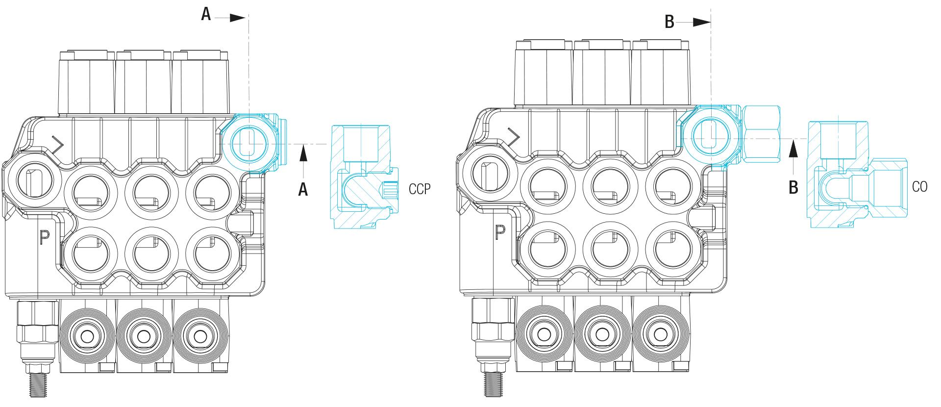 BLB Hydraulic raccordi-tappi