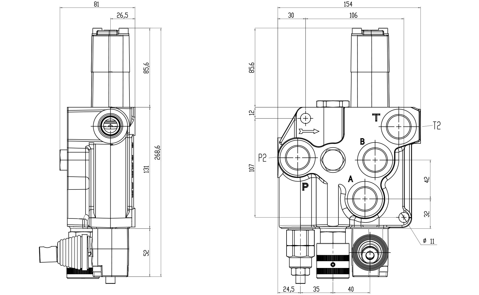 BF901 Technical specifications - BLB Hydraulic