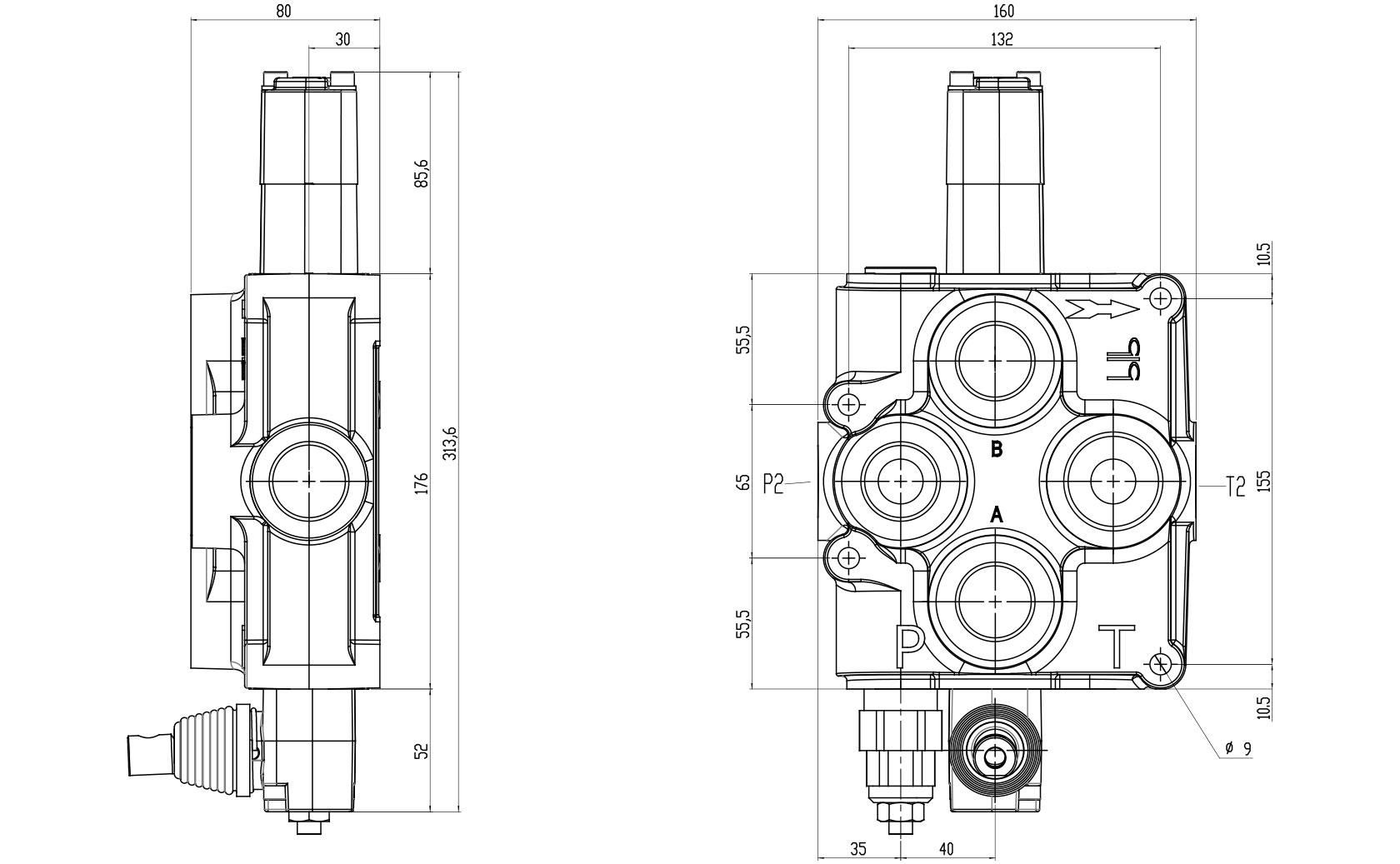 BM150 Technical specifications - BLB Hydraulic